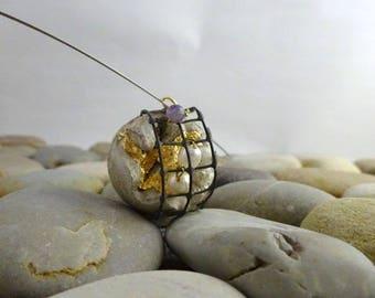 "Concrete contemporary jewelry ""Treasures"" necklace."