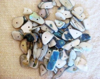 Set of mother of pearl beads