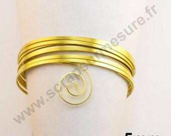 Wire aluminum 5mm flat - yellow - 1 m x