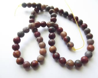60 round smooth Jasper beads natural multicolor Picasso 6 mm STAR-200