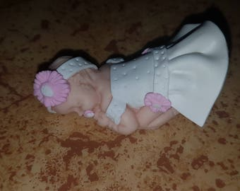 baby baptism only deco pr Fimo