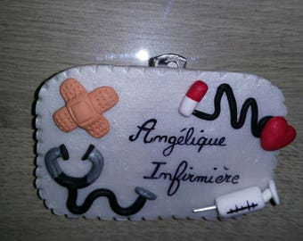 Badge nurse to customize colors polymer clay