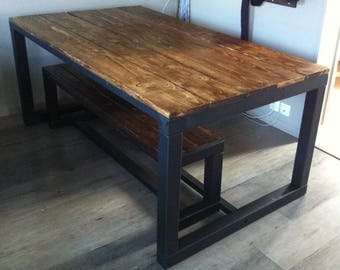 Wood stained Dark Oak dining table