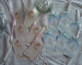 """2 sets of tags in Shabby Chic Style, """"Winter treats."""""""