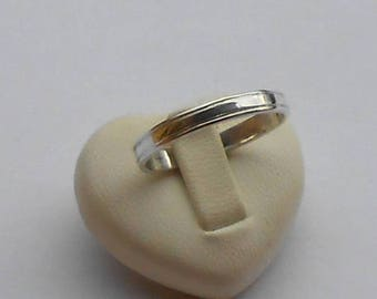 Traditional silver 950 wedding band (size on request)