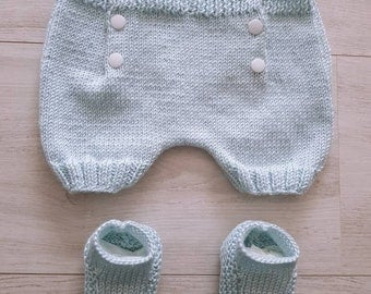 Shorts 0/3 months and booties