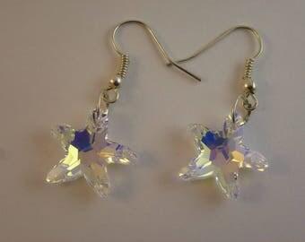 starfish Swarovski earrings