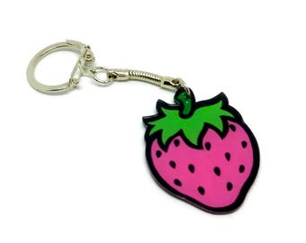Key chain - pink Strawberry