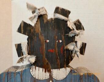African American Folk Art Female Figure