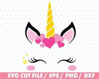 Unicorn svg, Unicorn svg file, Eyelashes svg,Unicorn cricut, Heart svg, Flower svg, Cute svg, Star svg, Valentine svg, Valentine cricut