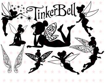 Tinkerbell Svg, Tinkerbell Silhouette, Tinker Bell Svg Silhouette, Tinkerbell Vector, Tinkerbell Cut, Tinkerbell Clipart, Tinkerbell File
