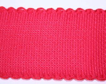 Ribbon canvas Aida Red 5 cm x 1 meter