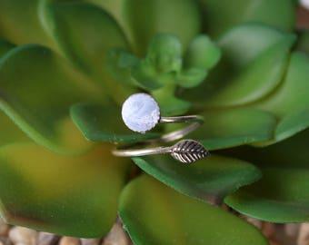 Tribal Leaf Eco resin Ring