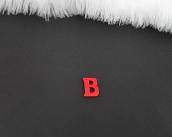Wood pendant letter B charm
