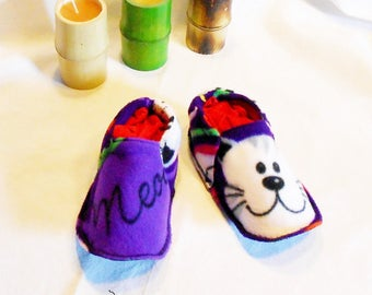 Slippers washable cat and flexible T: 28/30 made 100% in France