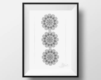 Islamic Geometric N1 - Arabic calligraphy - Islamic Print - Instant Download PDF- Islamic Wall Art Print