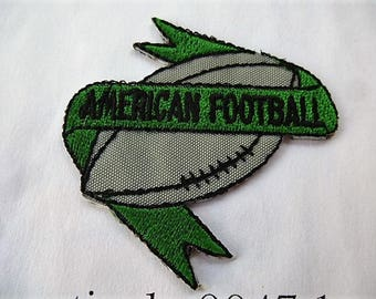 american football 9047.1 applique badge patch for customisation sewing iron or sew vintage