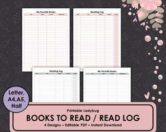 Books to Read,Reading Log,Books List,Favorite Books,Reading Journal,Reading List,Reading Log Insert,Reading List,Reading Planner,Read Log