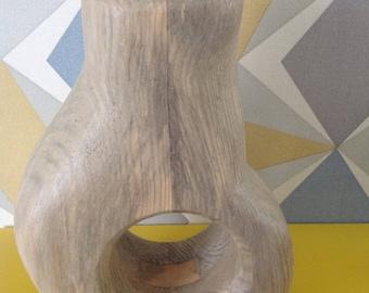 Vase, vase, wood from two color palette