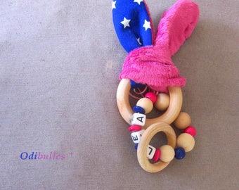 bunny ear rattle baby