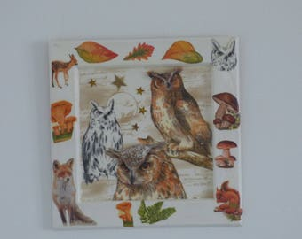 table 3D owls and forest animals