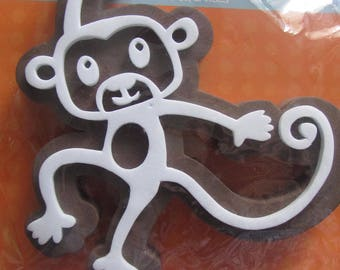 Depicting a monkey-Deco stamp foam stamp