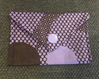 WAX fabric with snap pouch