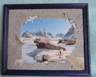 wall decor, Arctic atmosphere in a picture frame