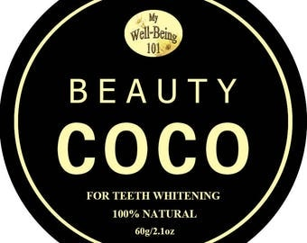 100% Natural Best Coconut Shell Activated Charcoal Powder Teeth Cleaner and Whitening, 60g (2.1oz)