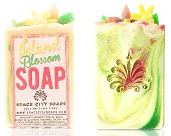 Luxury Cold Process Soap | Tropical Scents | All Natural Homemade Soap | Birthday Gift For Girlfriend Ideas | Gift For Her | Stress Relief