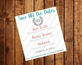 Diy save the date etsy save all the dates pdf save the date card printable editable save the junglespirit Image collections