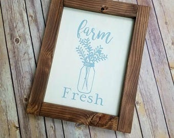 Farm Fresh wooden sign