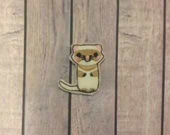 Ferret feltie, ferret patch,felties ferret applique, ferret hair bow, hair bow supplies,bow centers, hair bows, ferret bow centers, hair bow