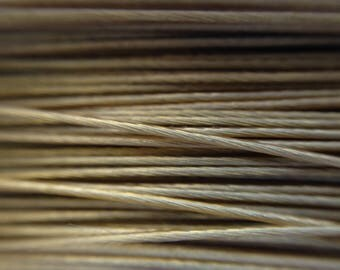 0.45 mm reel 50 m /6/ set beige twisted metal wire