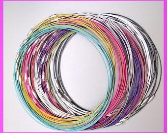 10 cords-neck wire 45 cm, 10 colors.