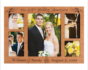 Personalized Anniversary Frame, 1st, 5th, 10th, 25th, 50th Anniversary, Wedding Anniversary Photo Frame, Great Gift