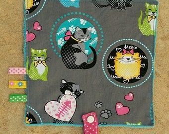 Blanket pacifier multicolored cats collection