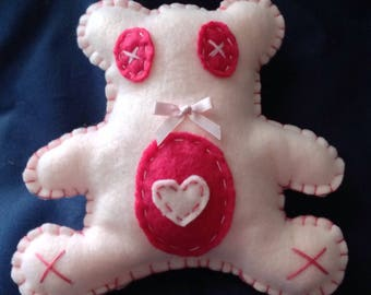 Plush teddy rattle for baby