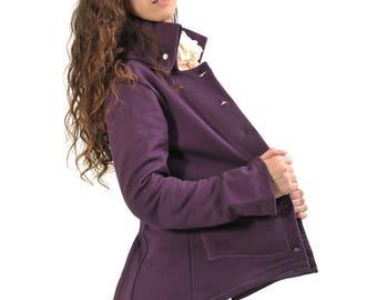 Albatross jacket plum aubergine collar