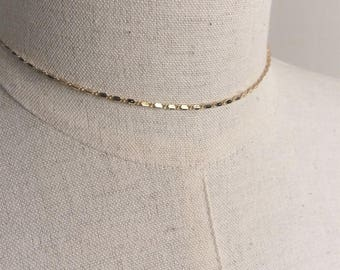 """Lena"" chain choker necklace gold plated"