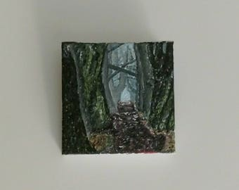 """Oil Painting Real, Wall Art, Canvas Art, Original Hand Painted """"Walkway through the Forest"""""""