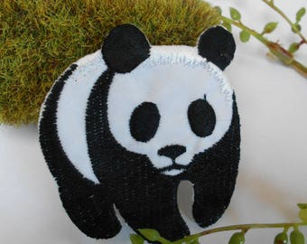 Panda embroidered patch applique - fusible 6.50cm/5.5cm