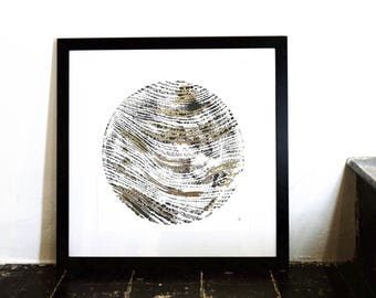 Contemporary wall art *limited edition* Sphere Portrait by Colete Bucktootill and Lara Bezzina, collaboration. Minimal, unique gift idea.