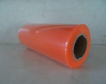 1 roll of 22 meters of tulle orange width 15 cm