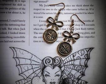 """""""Time"""" bronze earrings"""