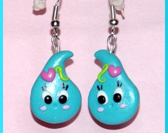 Kawaii rain drop earrings