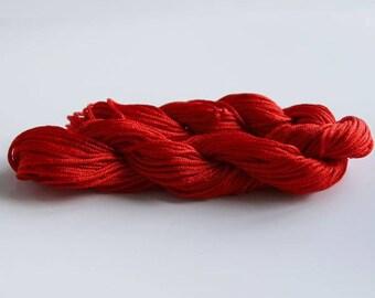 Red wire NYLON braid Ø 1 mm cord macrame shamballa making 27 m