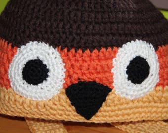 Hat - OWL - wool - child