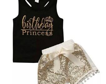 Birthday princess clothing set