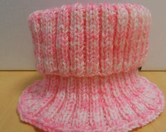 Snood pink and white girls 4 to 6 years